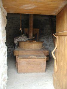 le coffre intérieur du moulin